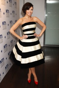 Get The Look Dannii Minogue S Striped Dress High